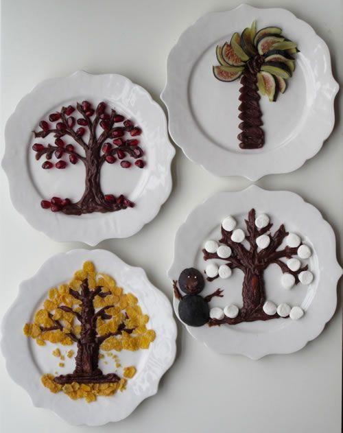 Tu B'Shevat Fruit Plates - Home Decor & Crafting