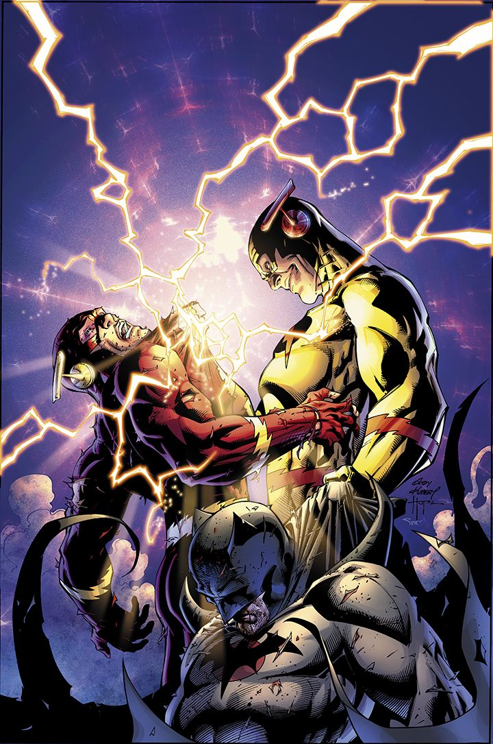 Flash and Professor Zoom by Andy Kubert & Sandy Hope. Flashpoint was one of the best things I had ever read and the fact that it led up to the new 52 made it even better.
