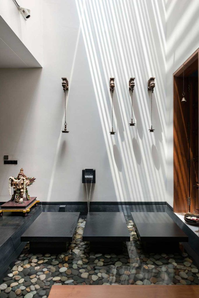 Modern House By Studio Lagom Skewed House Surat Gujarat India Temple Design For Home Pooja Room Design Pooja Room Door Design
