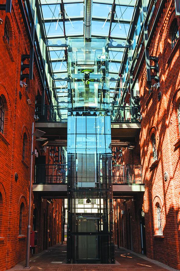 Glass hall in Fabryka Sztuki [Art Factory].