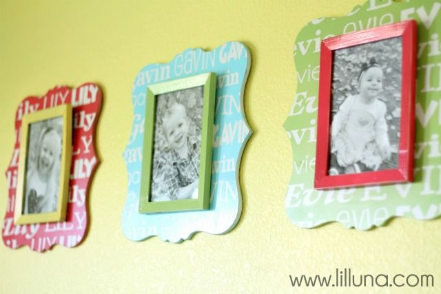 tutorial on how to make these personalized name frames