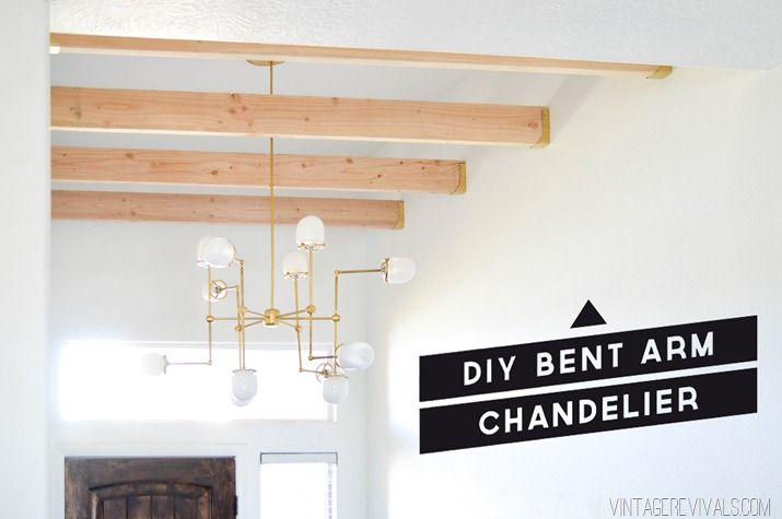 DIY Bent Arm Chandelier by @vintagerevivals #lighting #DIY