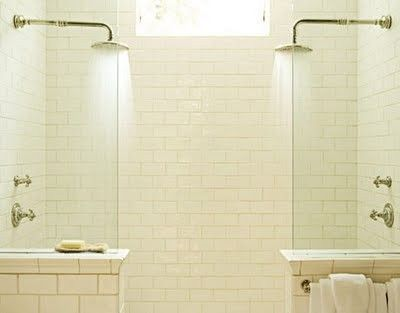 shower for two. Okay, not a bathtub, but almost as good. Both be under the full flow of the shower and talk at the same time is brilliant.