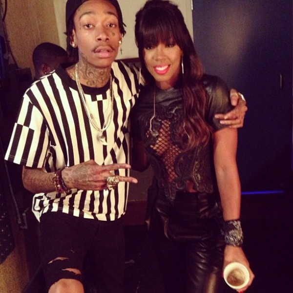 Kelly Rowland & Wiz Khalifa Performs On Jimmy Fallon+Usher Performs On The Voice
