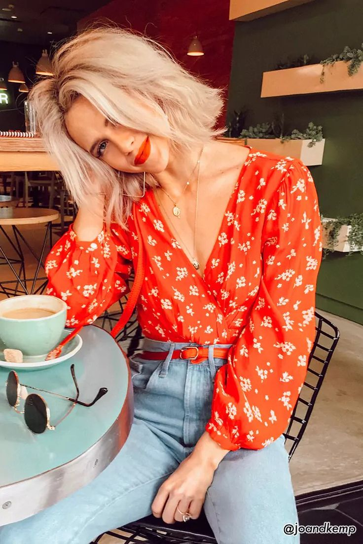 Floral Surplice Top | Forever21