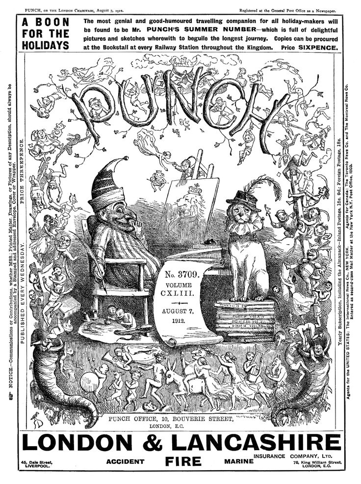 1912. Punch Magazine front cover.