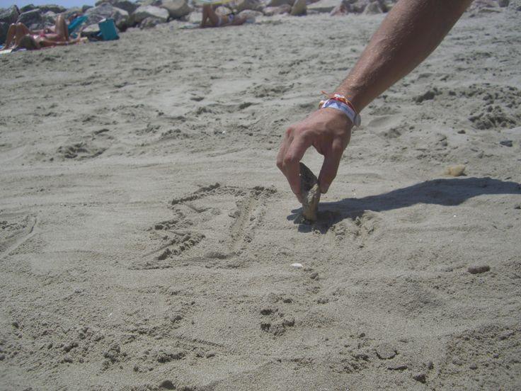 Strandzeichnungen erraten