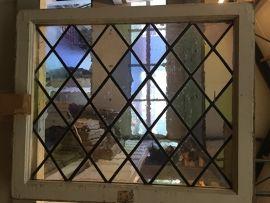nr. gl147 gekleurd glas in lood raam   Oude glas in lood ramen   Oudedeur - paneeldeuren :