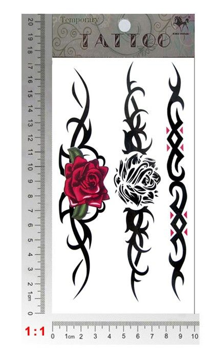 Sexy Rose Armband Temporary Tattoos