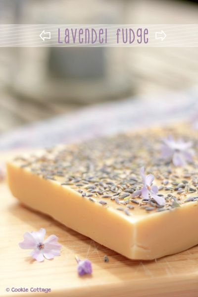 Recept voor fudge van lavendel.
