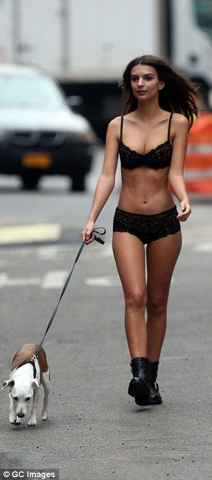 Walkies: It would seem Emily Ratajkowski will go to great lengths for her craft