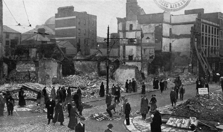 Image of North Earl Street 1916 - courtesy of Dublin City Public Libraries