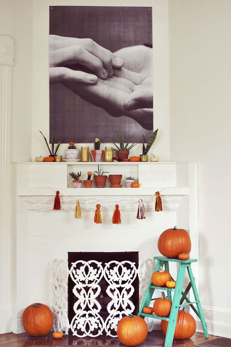 Fireplace Display Ideas 24 best thanksgiving/ fall fireplace ideas images on pinterest