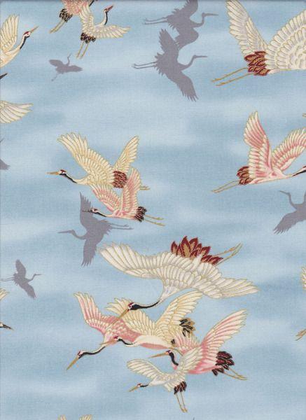 KRANICHE JAPAN STOFF Nr. 131151 von Quilt Shop Ruth Baudisch auf DaWanda.com