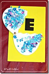 fun letter e craft using a fastener to let the egg open and close
