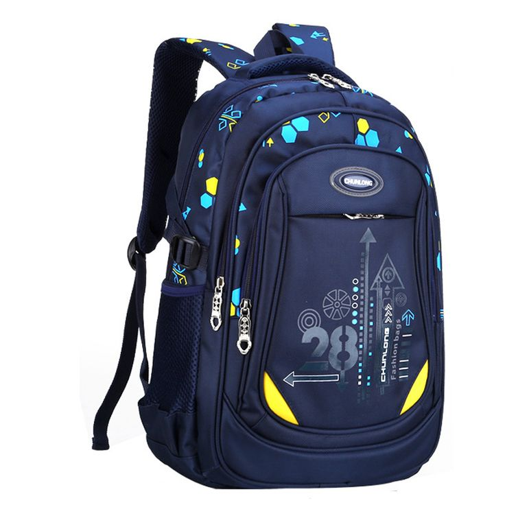 Children School Bags 4 Colors Waterproof Children Backpacks Kids Satchel  for Girls and Boys Children Pattern Bag