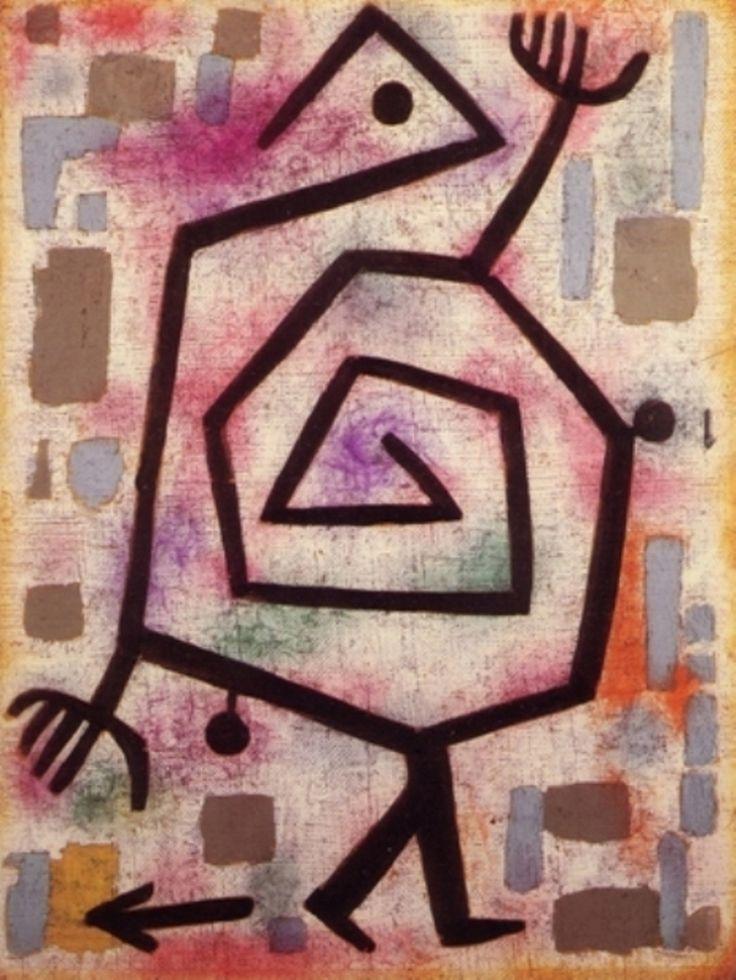 Paul Klee ' Timid Brute'  1938                                                                                                                                                     Más