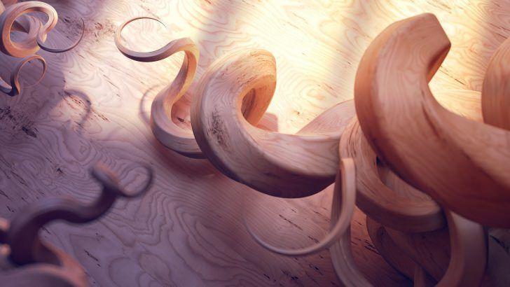 Spiral Branches Wallpaper