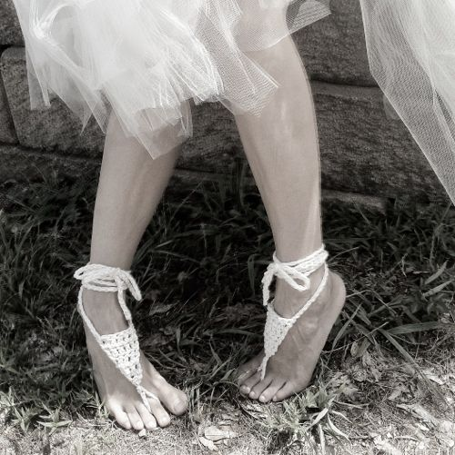 Bohemian Barefoot Sandals – Free Crochet Pattern! http://blog.expressionfiberarts.com/2012/07/25/bohemian-barefoot-sandals-free-crochet-pattern/