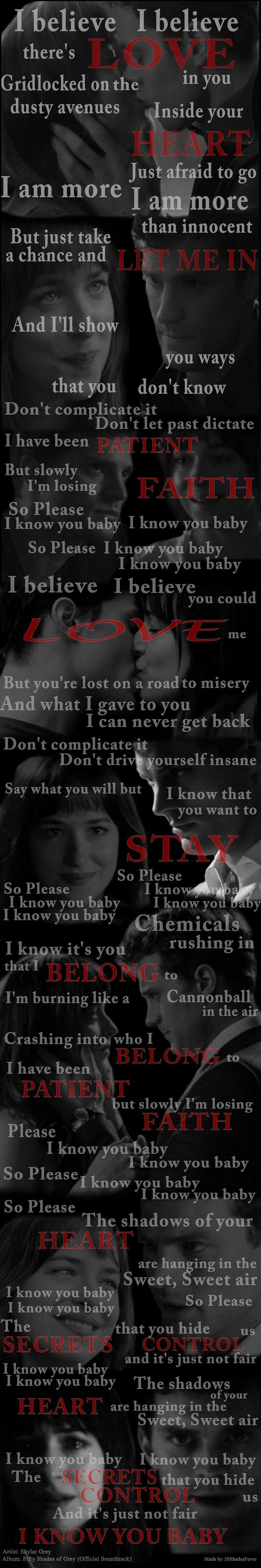 """""""I Know You"""" by Skylar Grey"""