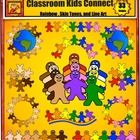 This 44 piece kids clip art set has many diverse uses in the classroom.  It works great for themes of friendship, peace, teamwork, Earth Day, World...