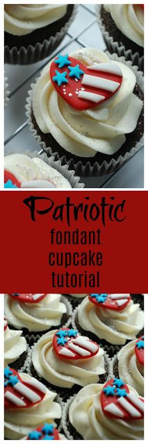 easy fondant american flag patriotic cupcake toppers by sweet jenny belle  perfect cupcake topper for 4th of July