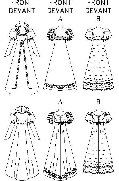 Regency Dress Patterns Free | FAB Victorian Regency Dress/Gown PATTERN Bronte Titanic | eBay