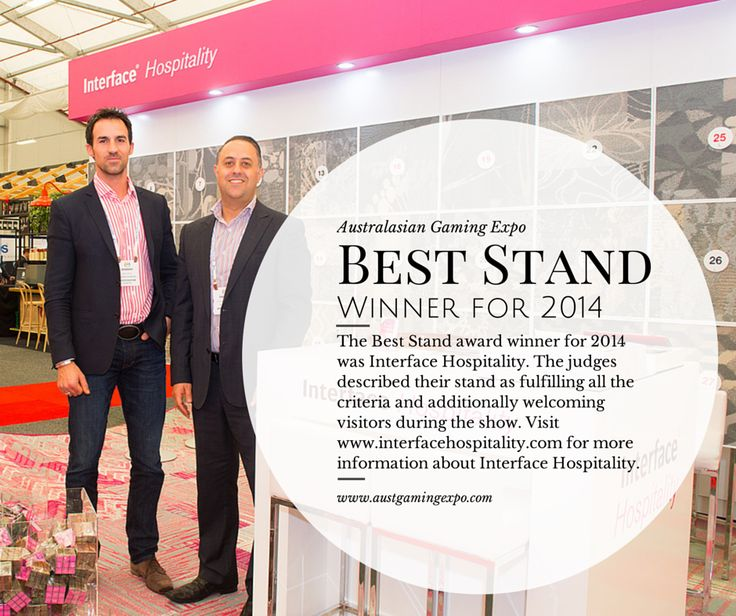 Thanks again to our best stand winner for 2014 - Interface Hospitality! http://www.interfacehospitality.com