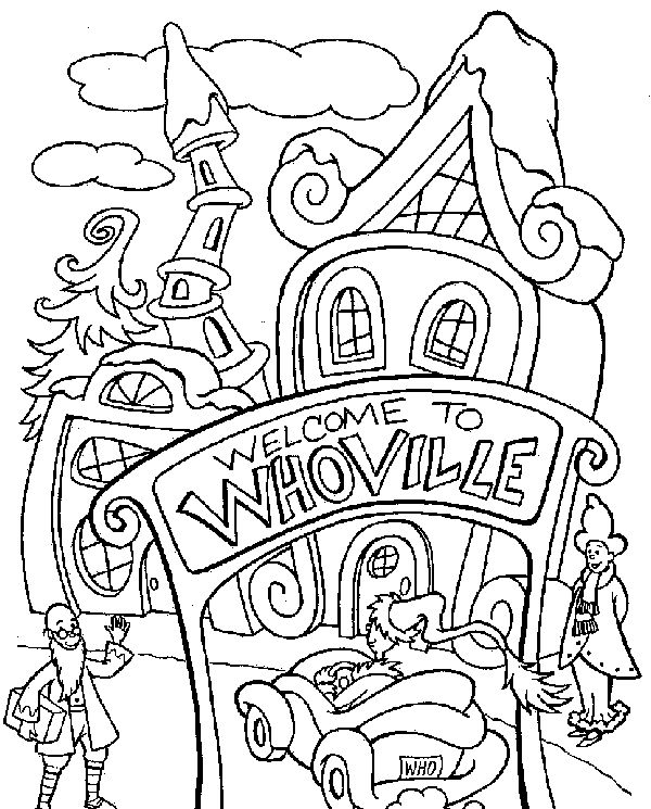 dr. Seuss Grinch Coloring Pages in Christmas title=
