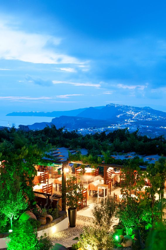 Night View from Pyrgos, Santorini