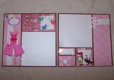 Sleeping BeautyCards Scrapbook, Disney Scrapbook