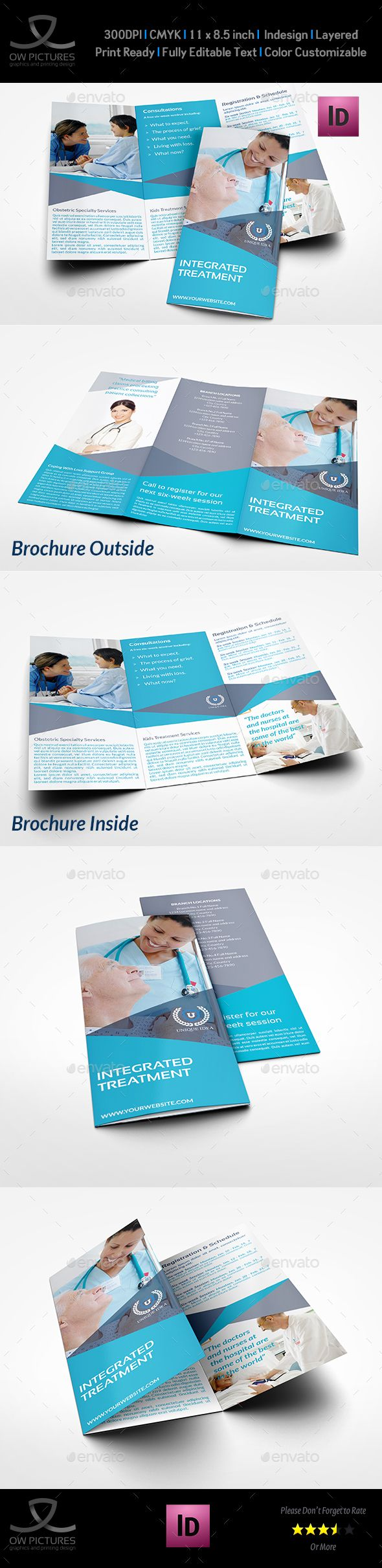 Medical Care Tri-Fold Brochure Template InDesign INDD. Download here: http://graphicriver.net/item/medical-care-trifold-brochure-template/16152816?ref=ksioks