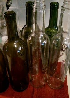 Remove labels from wine bottles