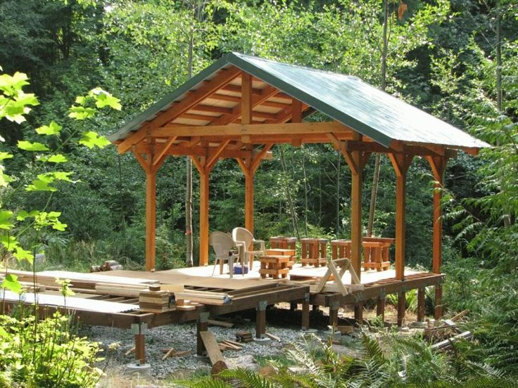 Deck Roof Plans This 16 X16 One Was Built With 6 Quot X6