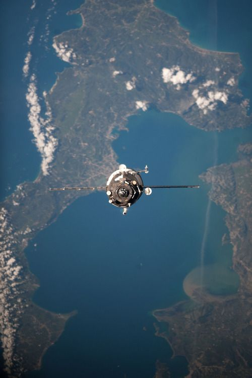 NASA | International space station in orbit / photographed by approaching space shuttle /sadly now a historic image from the non austerity years of NASA's golden years