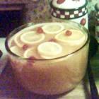 The BEST Holiday Punch EVER!    Ingredients:  1 (750 milliliter) bottle Southern Comfort liqueur  6 fluid ounces lemon juice  1 (6 ounce) can frozen lemonade concentrate, thawed  1 (6 ounce) can frozen orange juice concentrate  3 liters lemon-lime flavored carbonated beverage  2 drops red food coloring  1 orange, sliced into rounds  1 lemon, sliced into rounds    Directions:  In a large punch bowl, combine Southern Comfort, lemon juice, lemonade concentrate and orange juice concentrate. Stir…