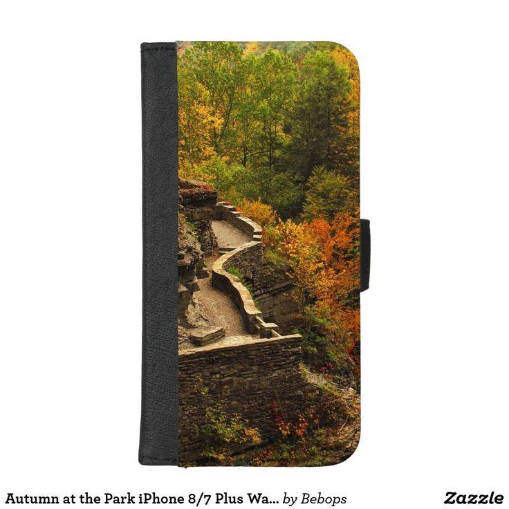 Autumn at the Park iPhone 8/7 Plus Wallet Case