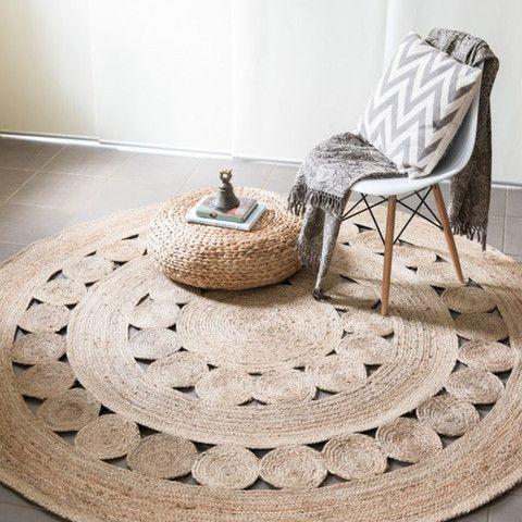 Jute Flatweave Flower Round Rug More - Best 25+ Round Rugs Ideas On Pinterest Carpet Design, Designer