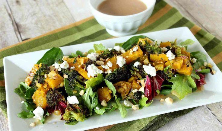 Roasted Golden Beet and Broccoli Salad