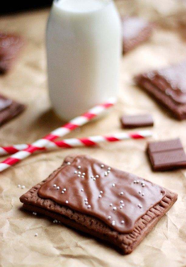 Homemade Chocolate Fudge Poptarts #Choctoberfest FoodBlogs.com