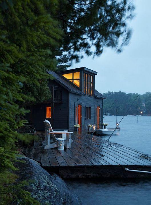 lake house: Lakeside Cabin, Lakes House, Dreams Home, Decks, Dreams House, Boathouse, Boats, Cottages, Places