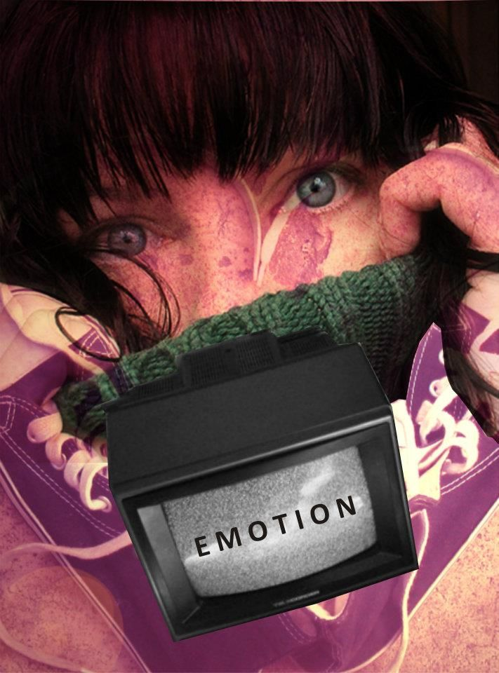 Digital collage Title: Televised emotion