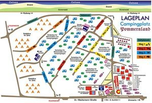 Lageplan vom Campingplatz Pommernland Usedom