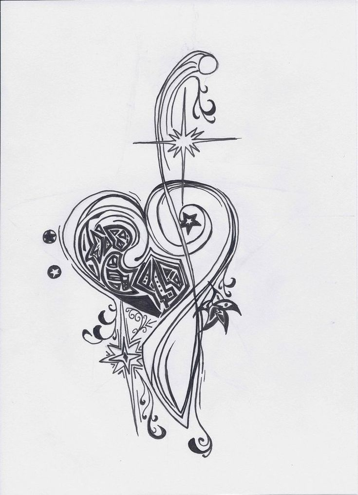 25 best bass clef heart tattoo designs images on pinterest heart tattoos heart tattoo designs. Black Bedroom Furniture Sets. Home Design Ideas