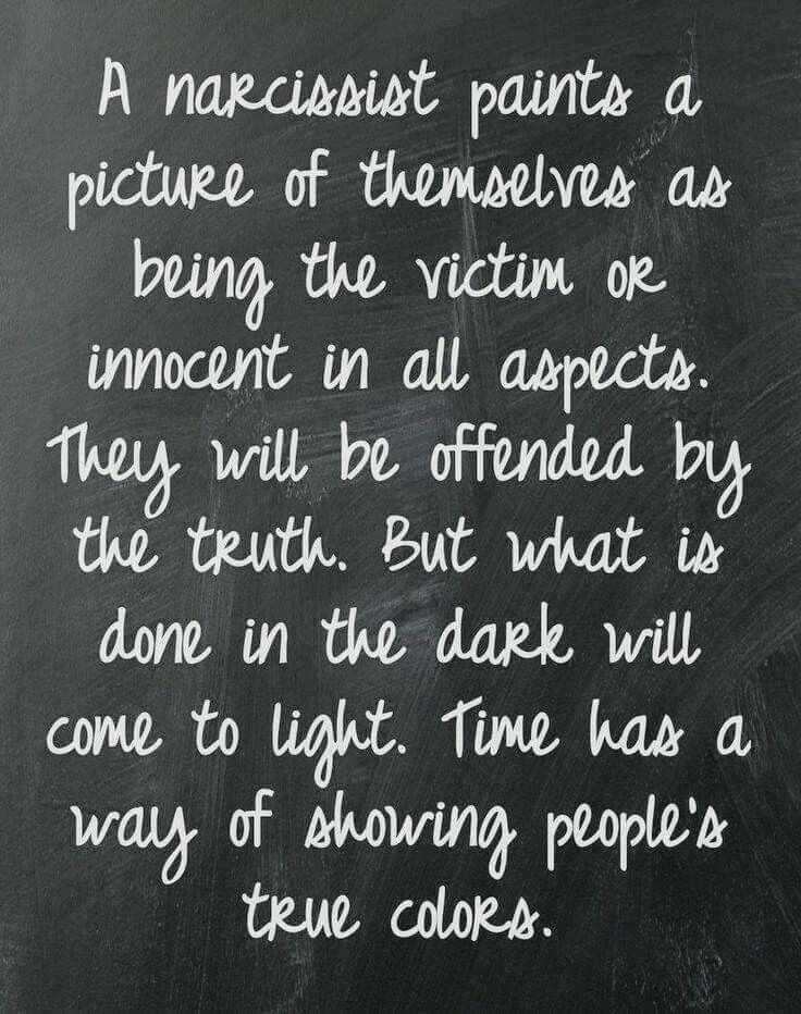 So true. When the narcissist makes a statement and you aren't allowed to counter or disagree, even in part, because they threaten to never talk to you again it is hard to get them to see the truth. You have to shut up to keep them in your life hoping and waiting for the day they come to their senses. Or, you have to just walk away until they realize what is reality for them isn't reality for anyone else..