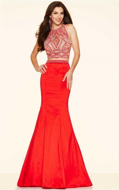 Mermaid Jewel Natural Sleeveless Floor-length Prom Dresses