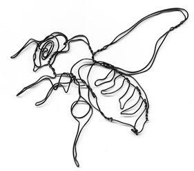 wire sculpture honey bee