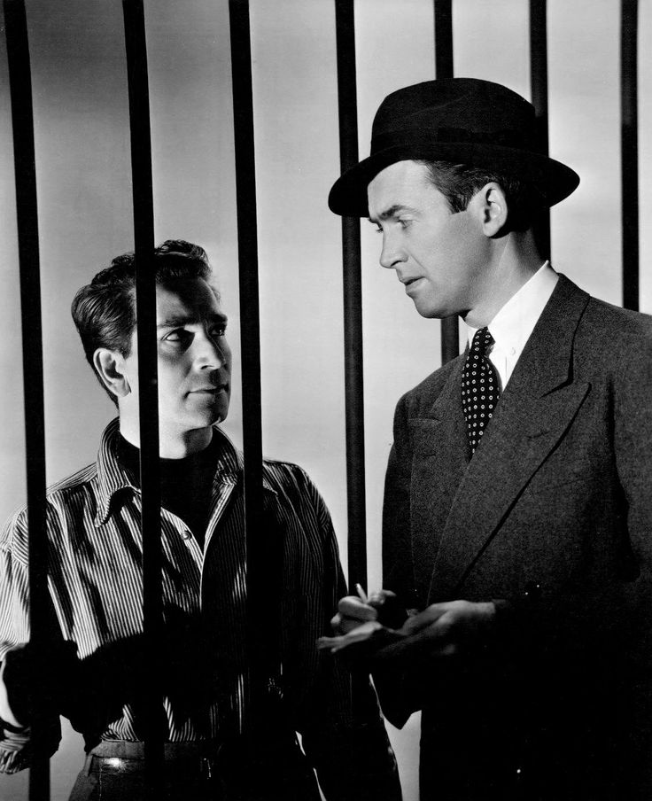 """Jimmy Stewart and Richard Conte for """"Call Northside 777"""" (1948)"""