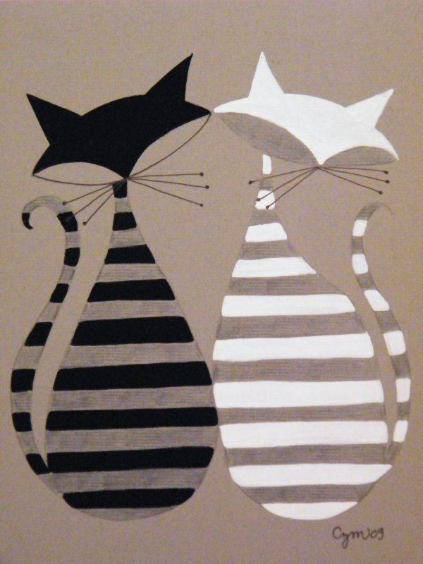 ilustración de El gato Gómez - I should make a Luna/Moonchild quilt hehe small wall hanging maybe