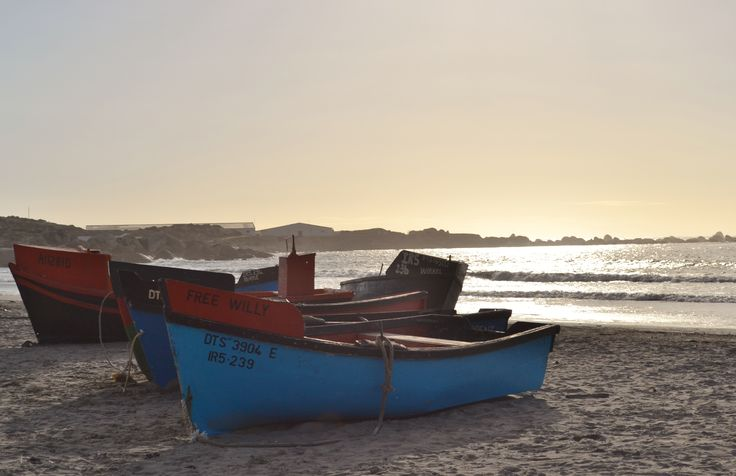 The fishing boats on the Paternoster beach